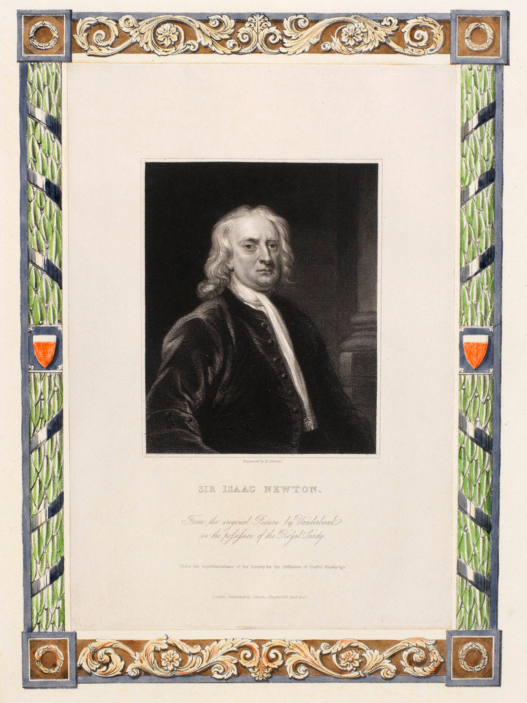 Portrait of Isaac Newton (1642-1727) by Edward Scrimm