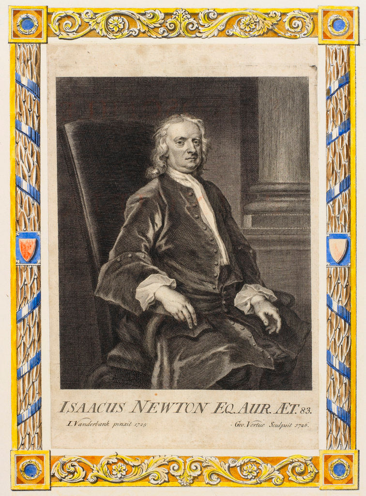 Portrait of Isaac Newton (1642-1727) by George Vertue