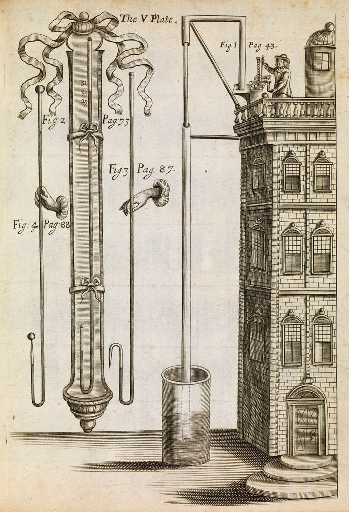 Detail of Robert Boyle's barometer by Anonymous