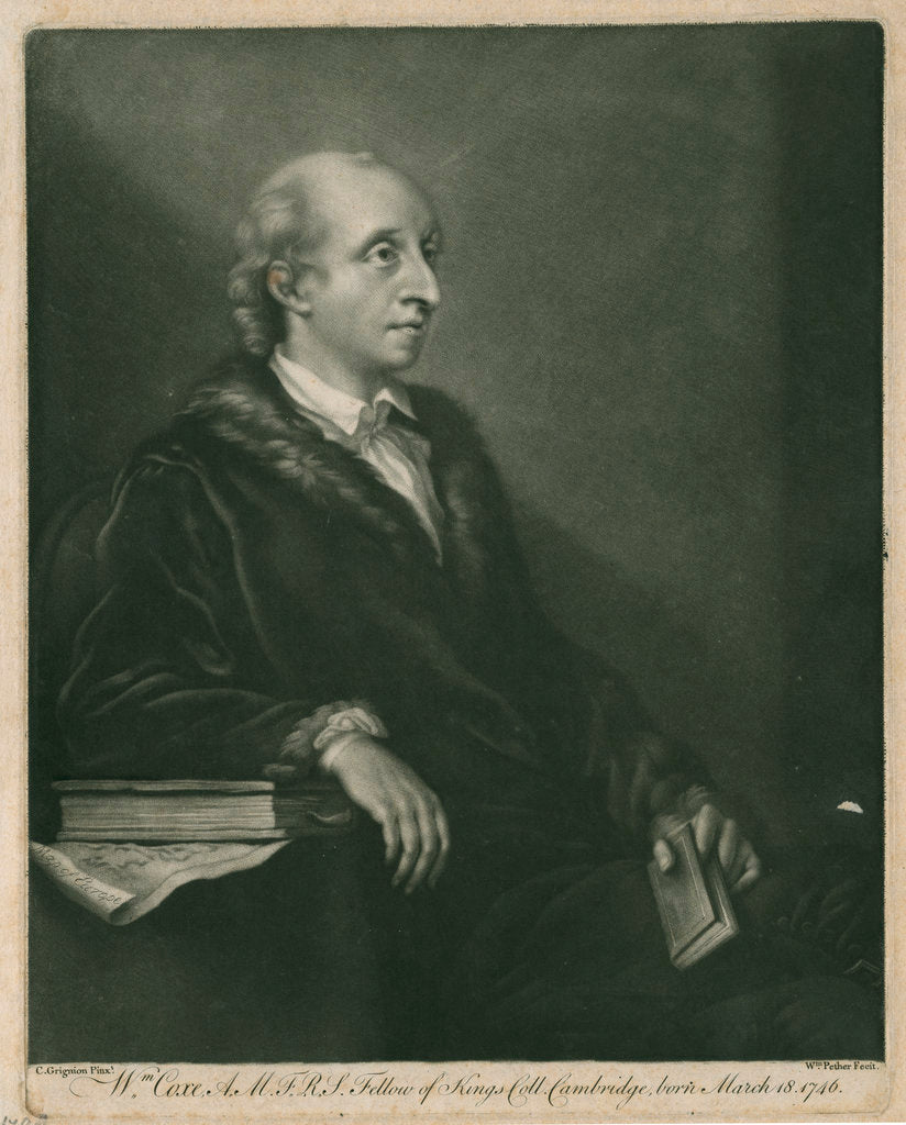 Portrait of William Coxe (1748-1828) by William Pether