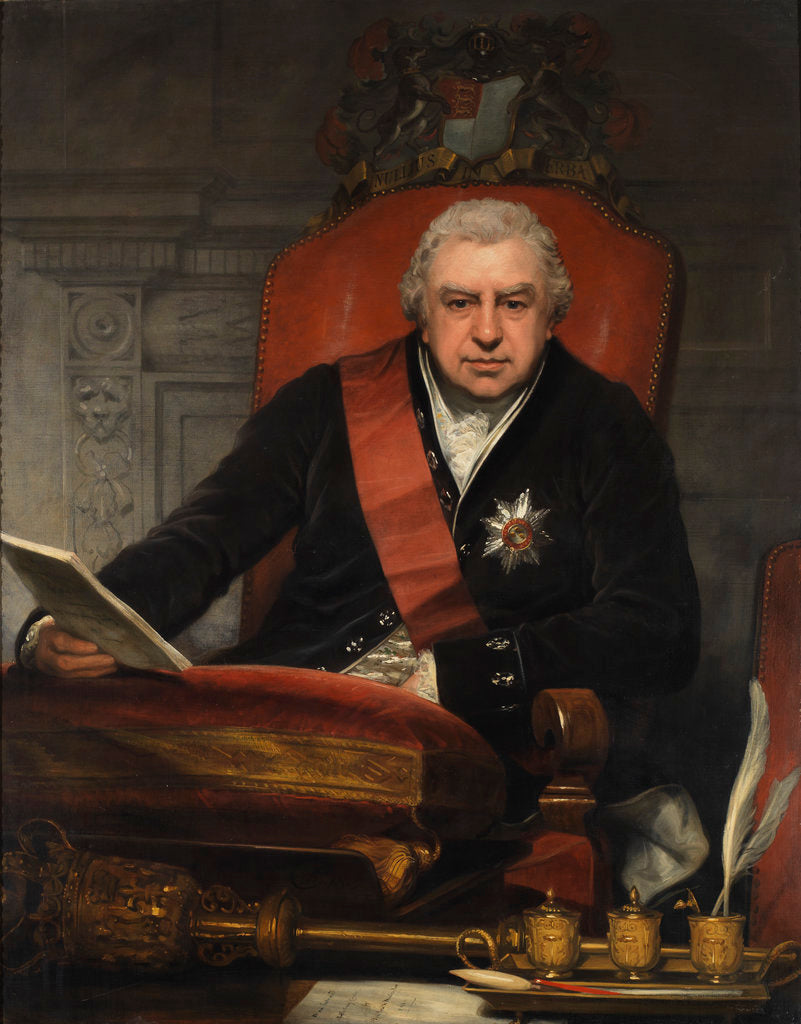 Detail of Portrait of Joseph Banks (1743-1820) by Thomas Phillips