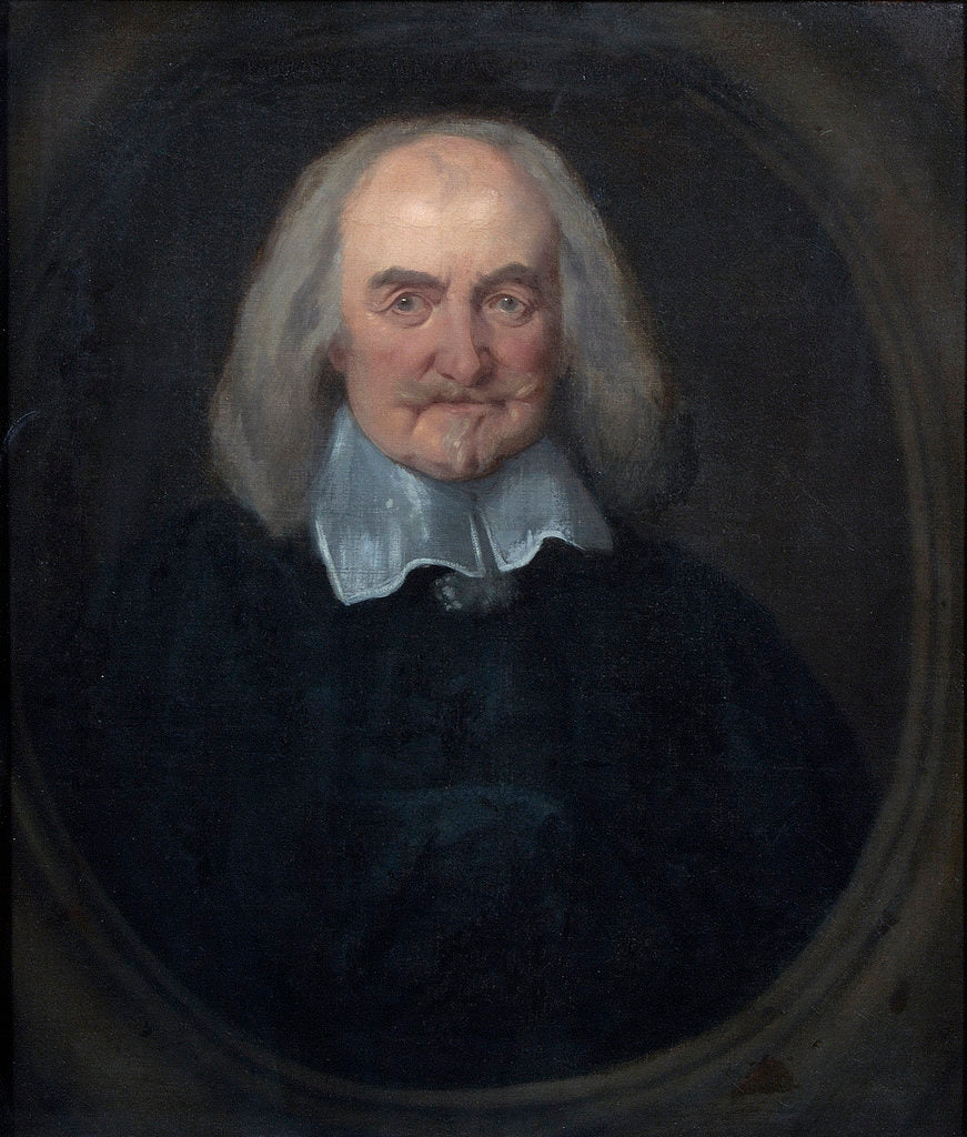 Detail of Portrait of Thomas Hobbes (1588-1679) by Jan Baptist Jaspers