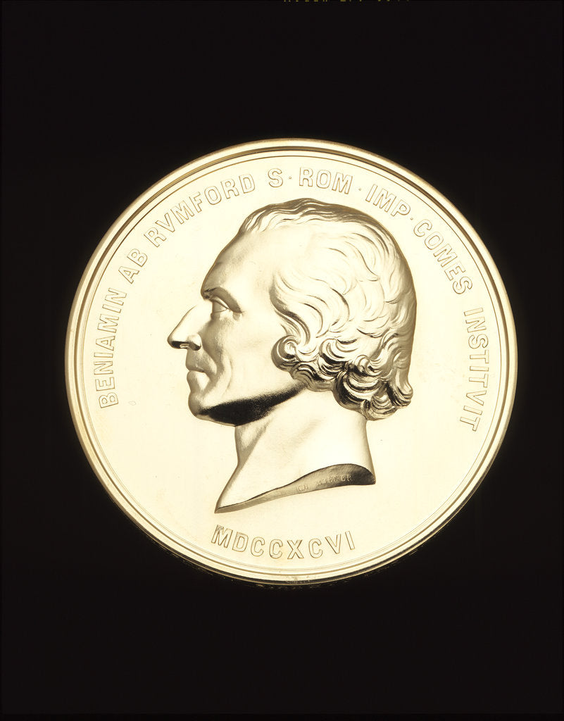 Detail of Obverse of the Rumford Medal by Anonymous