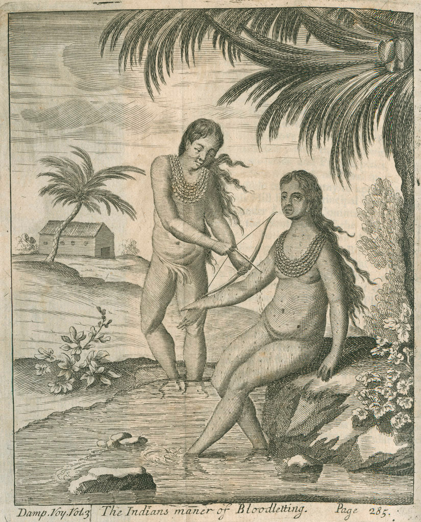 Detail of Blood letting practised by the Cuna Indians of Panama, observed by Lionel Wafer by John Savage