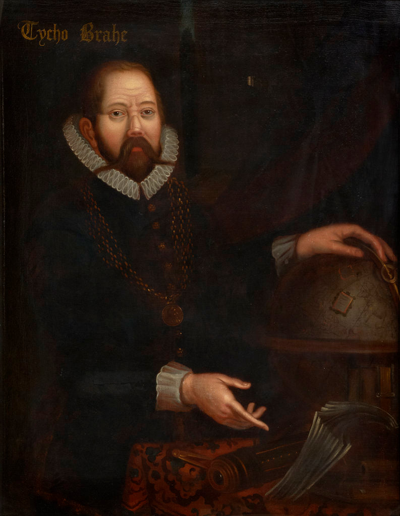 Detail of Portrait of Tycho Brahe (1546-1601) by unknown
