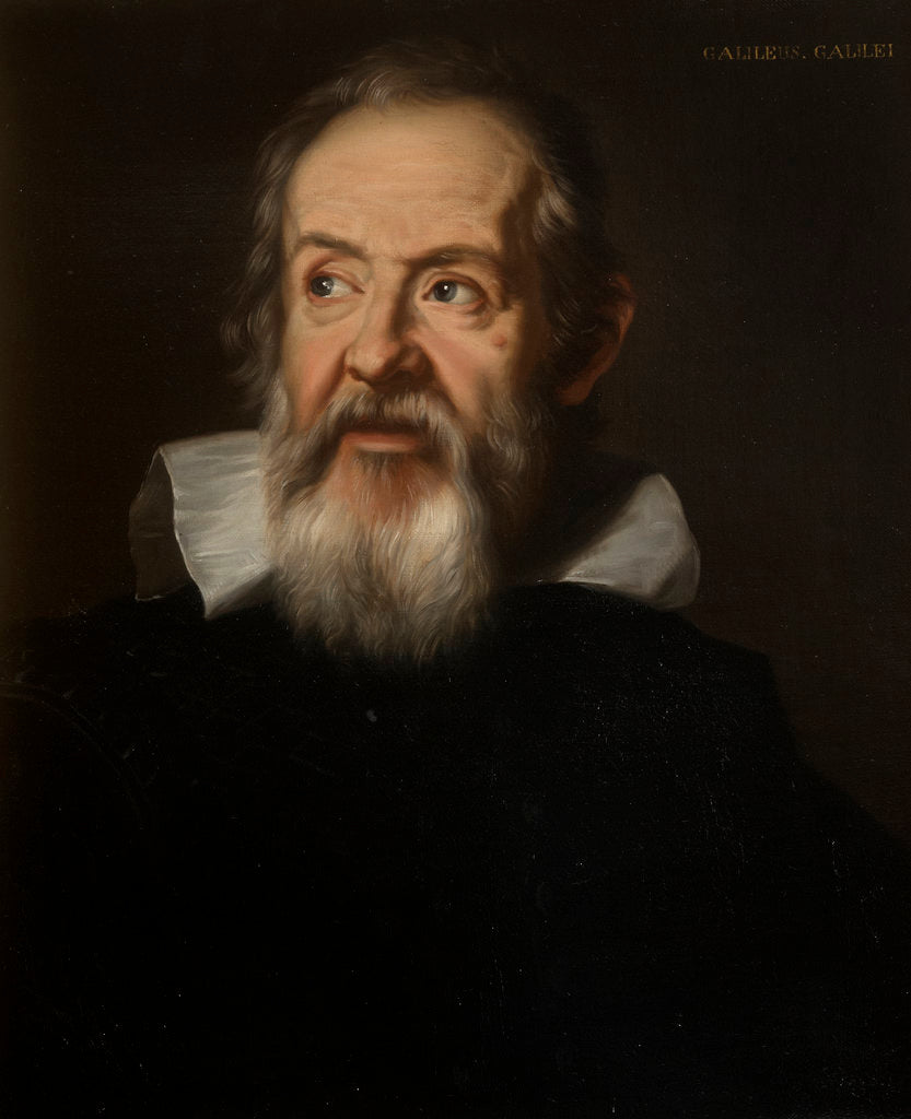Detail of Portrait of Galileo Galilei (1564-1642) by unknown