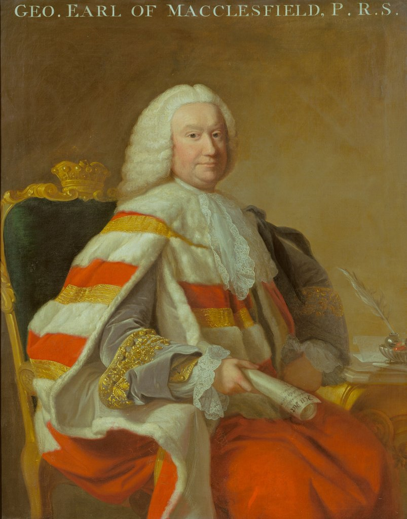 Detail of Portrait of George Parker, 2nd Earl of Macclesfield (1697-1764) by Thomas Hudson