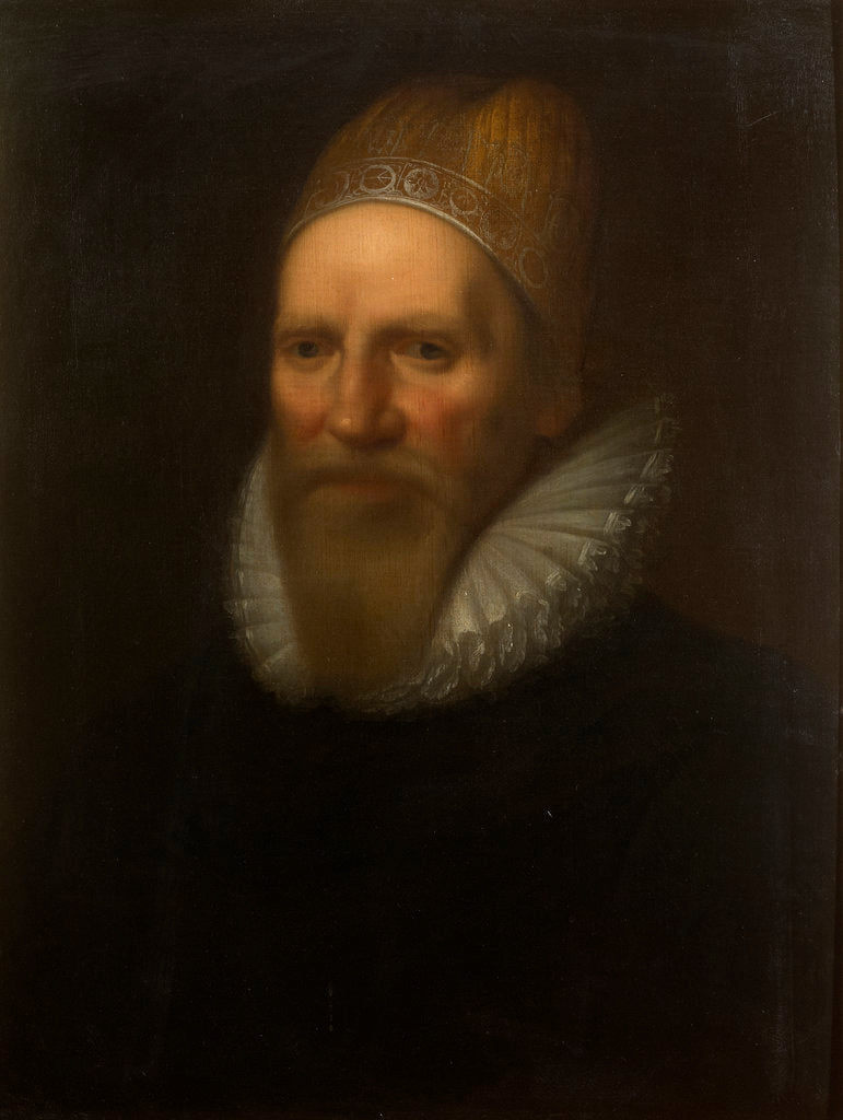 Detail of Portrait of Henry Spelman (1563-1641) by Studio of Cornelius Janssen van Ceulen