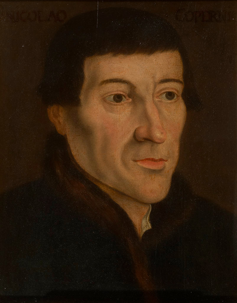 Detail of Portrait of Nicolaus Copernicus (1473-1543) by Friedrich Anton Lohrmann