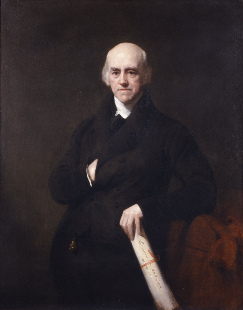 Detail of Portrait of Davies Gilbert (1767-1839) by Thomas Phillips
