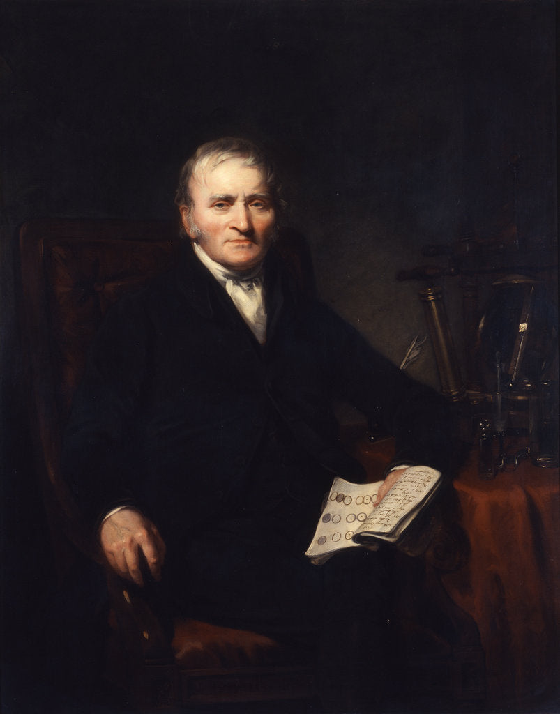 Detail of Portrait of John Dalton (1766-1844) by Benjamin Rawlinson Faulkner