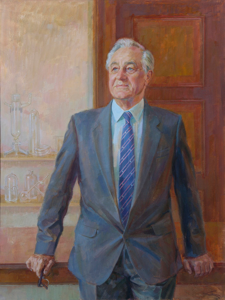 Detail of Portrait of George Porter, Baron Porter of Luddenham (1920-2002) by June Mendoza