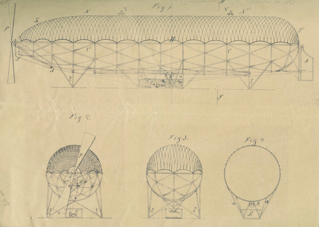 Detail of Airship design by Adolf Runge