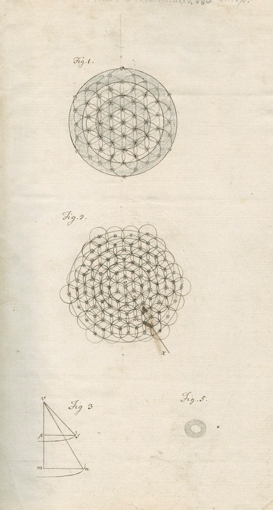 Detail of Theoretical stellar structures and a ring nebula by William Herschel