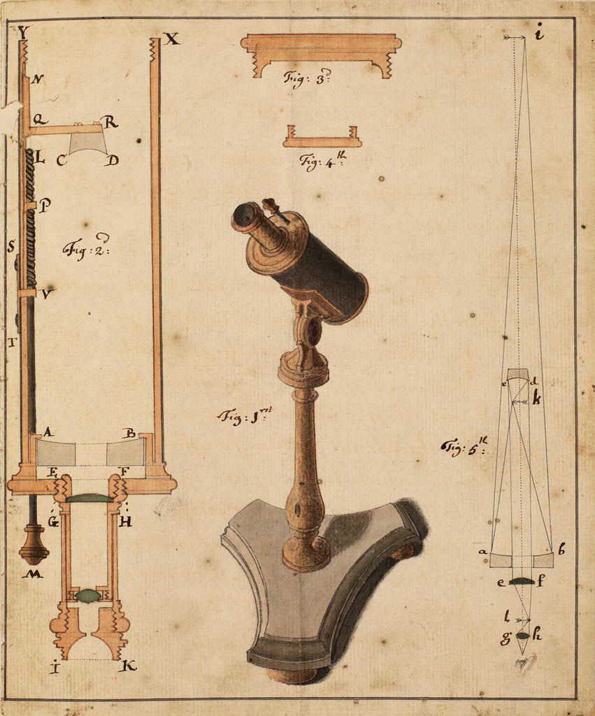 Detail of Catoptric microscope by Robert Barker