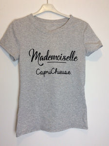 T-shirt mademoiselle gris