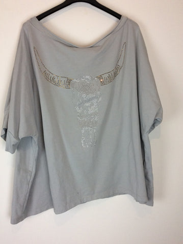 T-shirt buffle gris