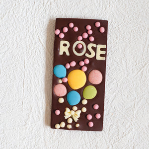 Personalised Semi-Dark Chocolate Bar