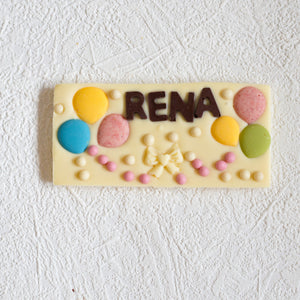 Personalised Artisan White Chocolate Bar