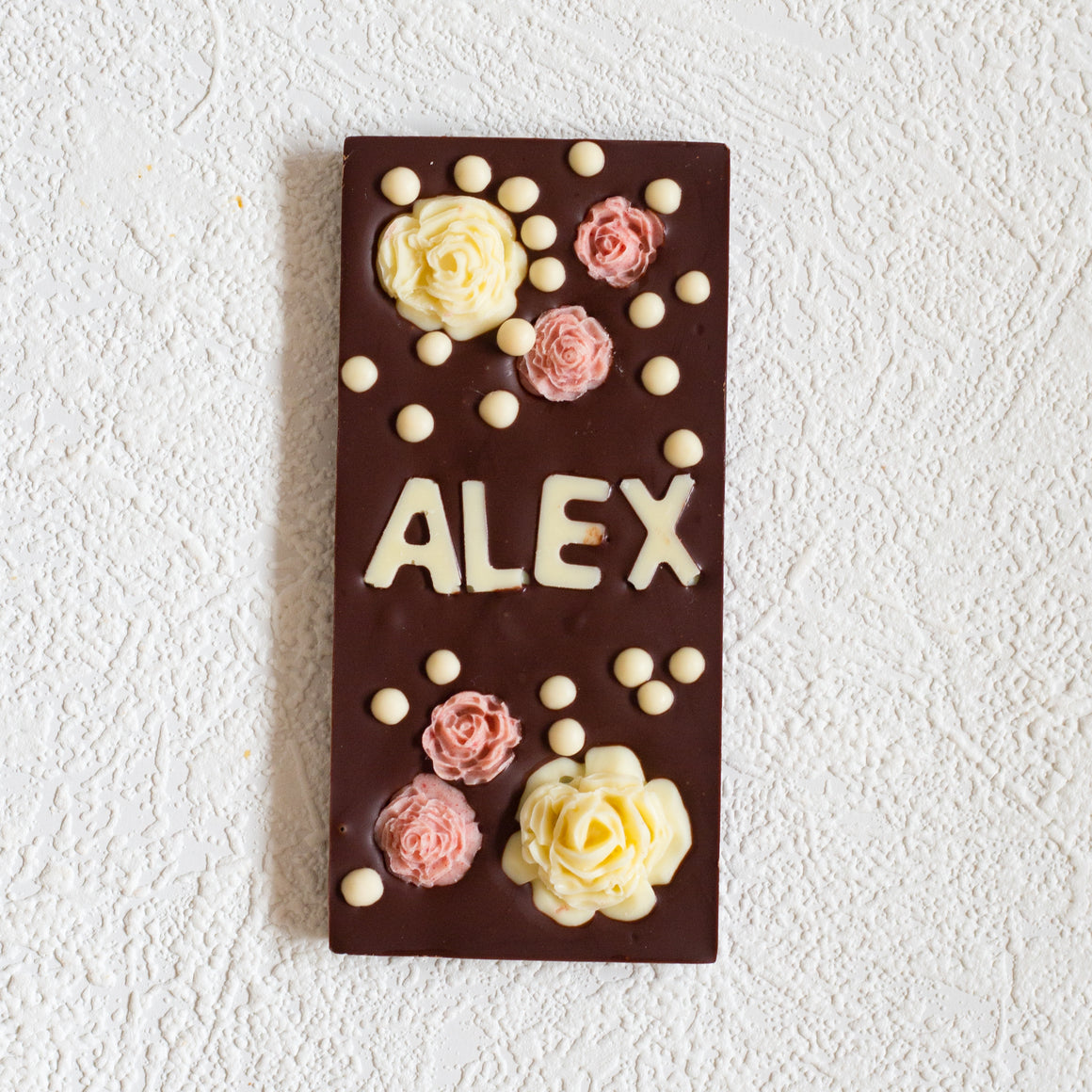 Personalised Artisan Semi-dark Chocolate Bar