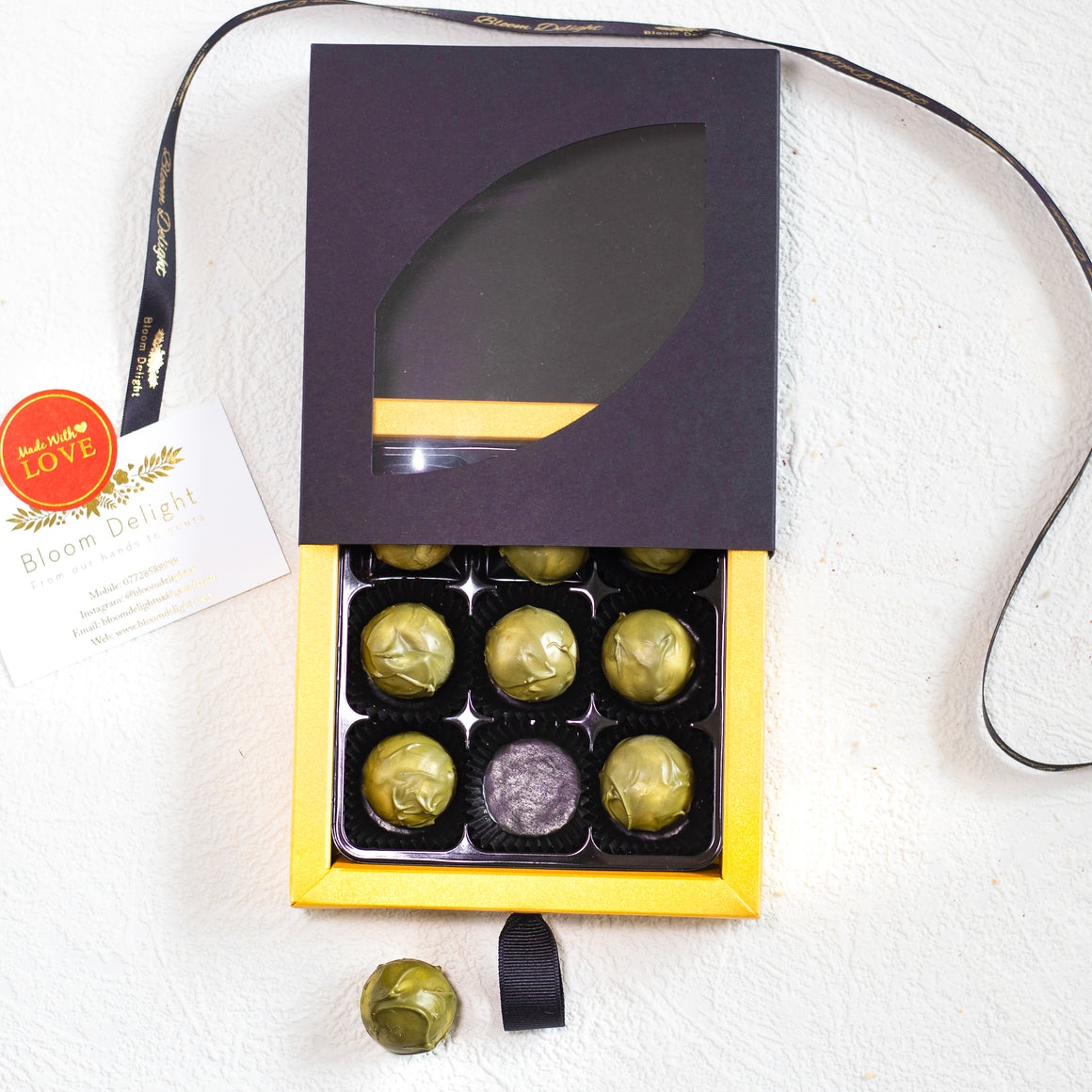 luxury matcha tea and ruby chocolate box