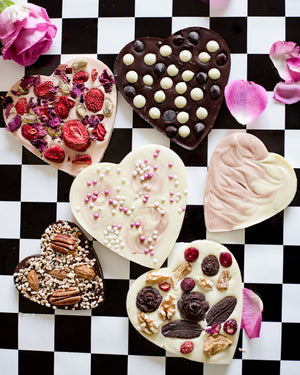 Bloom Delight artisan heart bars with dried fruits and nuts.