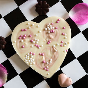 Bloom Delight artisan white chocolate heart bar free uk delivery