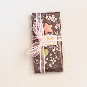 Dark chocolate artisan bar for gift ideas and favours