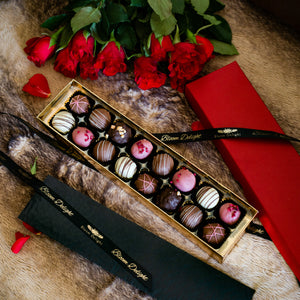 Romantic chocolate truffle box of 16