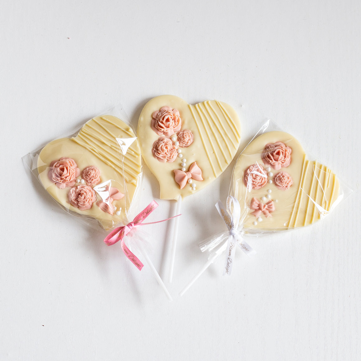 handcrafted white chocolate party baby and bridal shower favours artisan heart