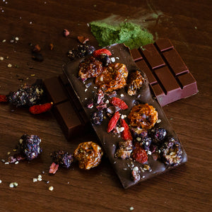 Artisan superfood power chocolate bar