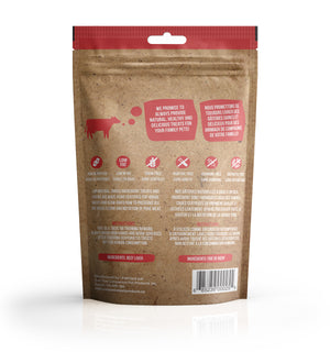 True Raw Choice dehydrated beef liver treats for dogs and cats (back of package).