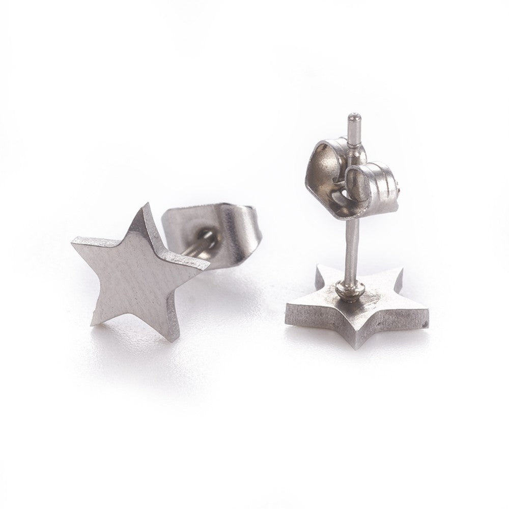 STARS - E021 - HYPOALLERGENIC EARRINGS