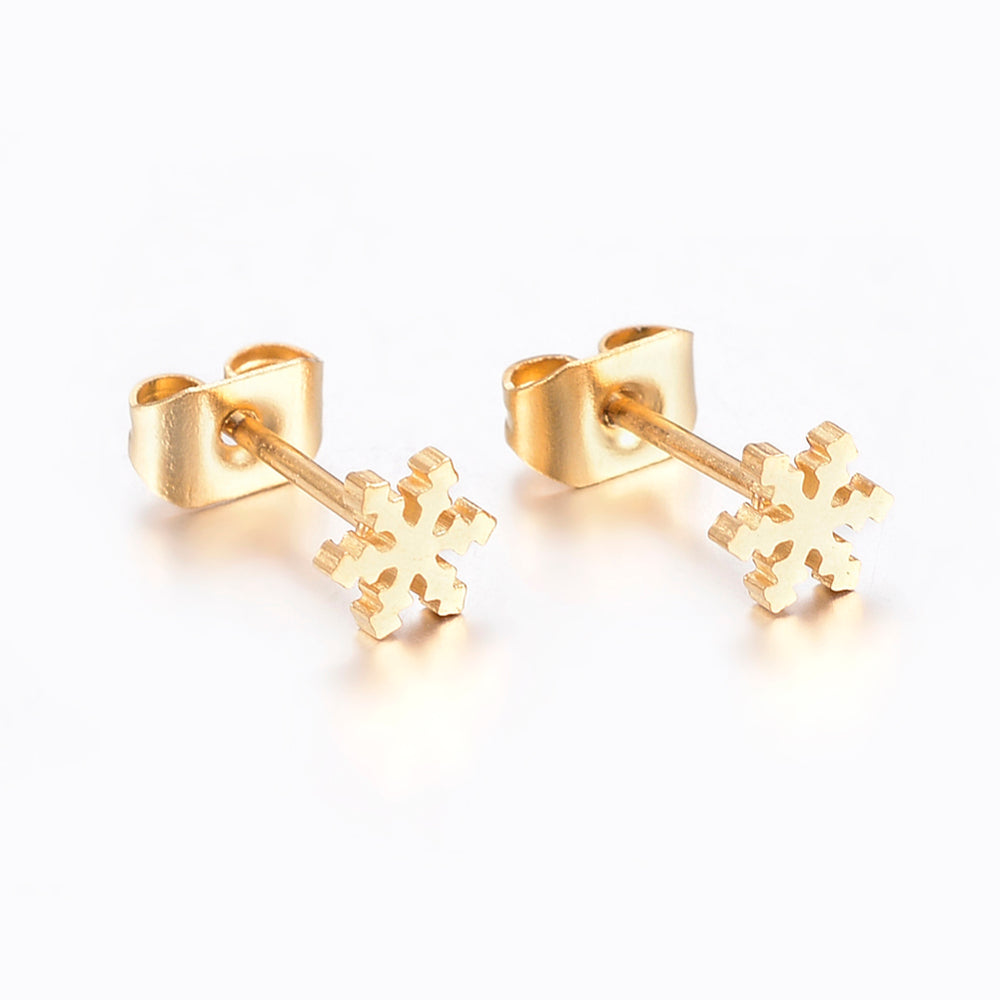 SNOWFLAKE - E018 - HYPOALLERGENIC EARRINGS