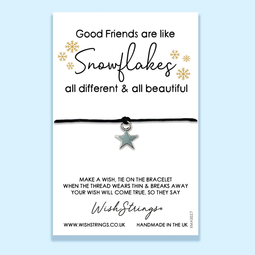 GOOD FRIENDS SNOWFLAKES - WishStrings - XMAS027