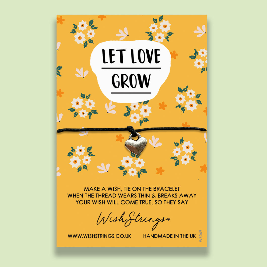 LET LOVE GROW - WishStrings Wish Bracelet
