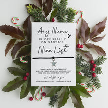 Load image into Gallery viewer, CHRISTMAS NICE LIST - PERSONALISED WISHSTRING