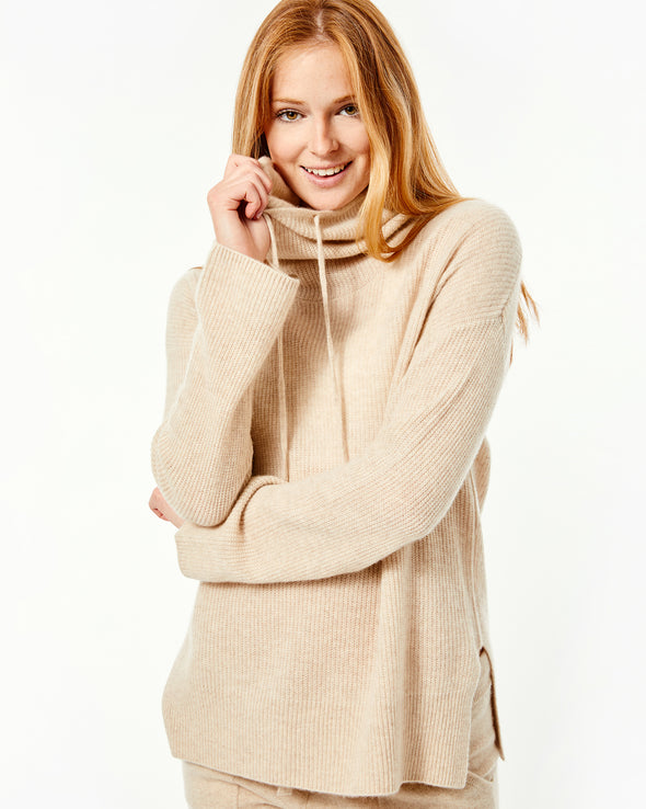 Zooey Funnel Neck Boxy Pullover