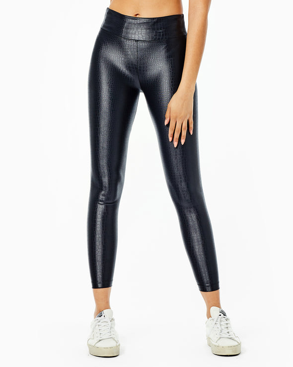 Lustrous Crocodile High Rise Legging