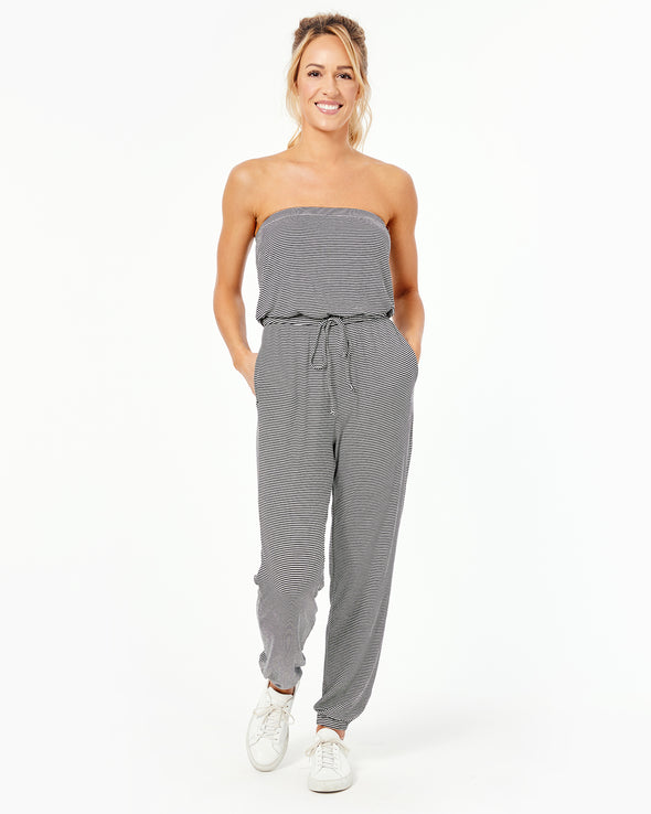 Rib Cinched Jumpsuit