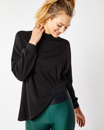 Asymmetrical Crop Turtleneck