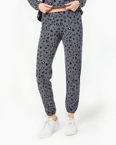 Heart Leopard Sweats