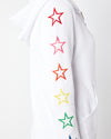 Rainbow Embroidered Star Hoodie