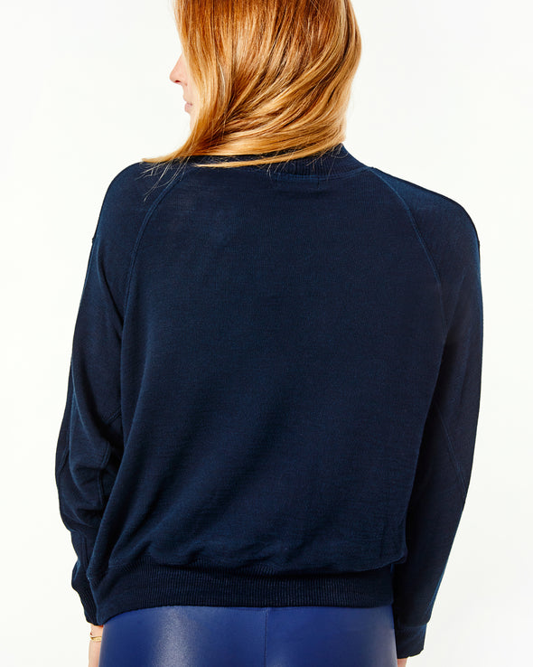 Supersoft Mock Neck Seamed Sweatshirt