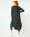 Shirred Hooded Duster