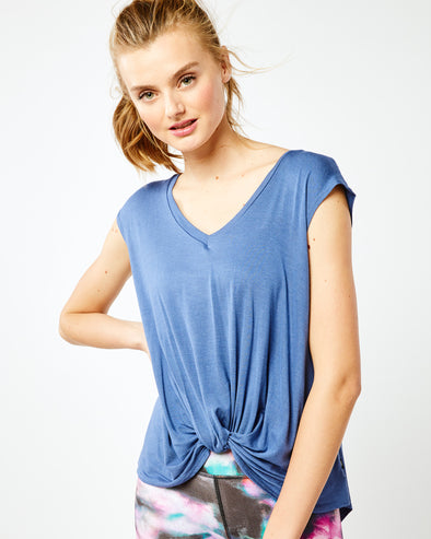 Twist Top V Neck