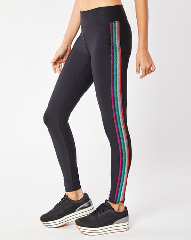 Rainbow Metallic Stripe Legging
