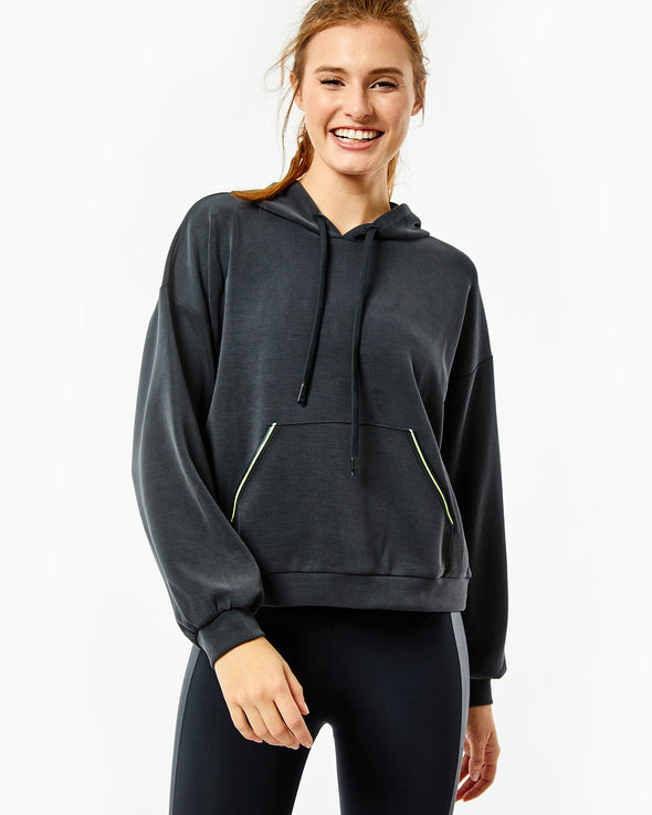 Neon Piped Hoodie