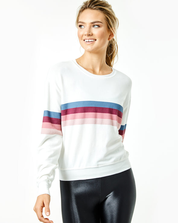 Stripe Crewneck Savasana