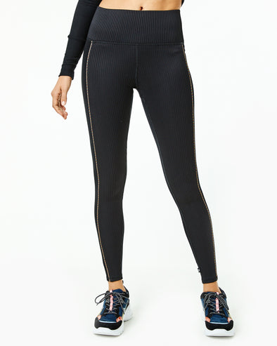 Piping Ribbed Legging